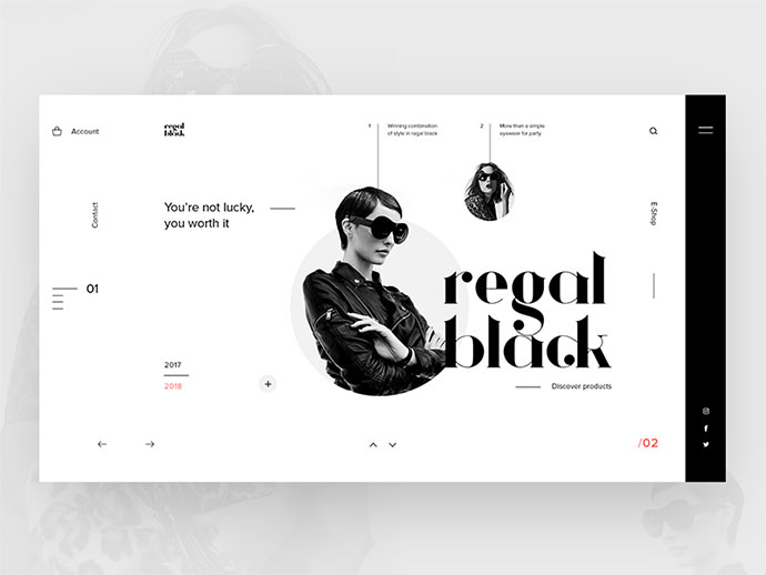50 Fabulous Black White Web Ui Designs Bashooka