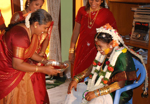India Ink Bangle Ceremony