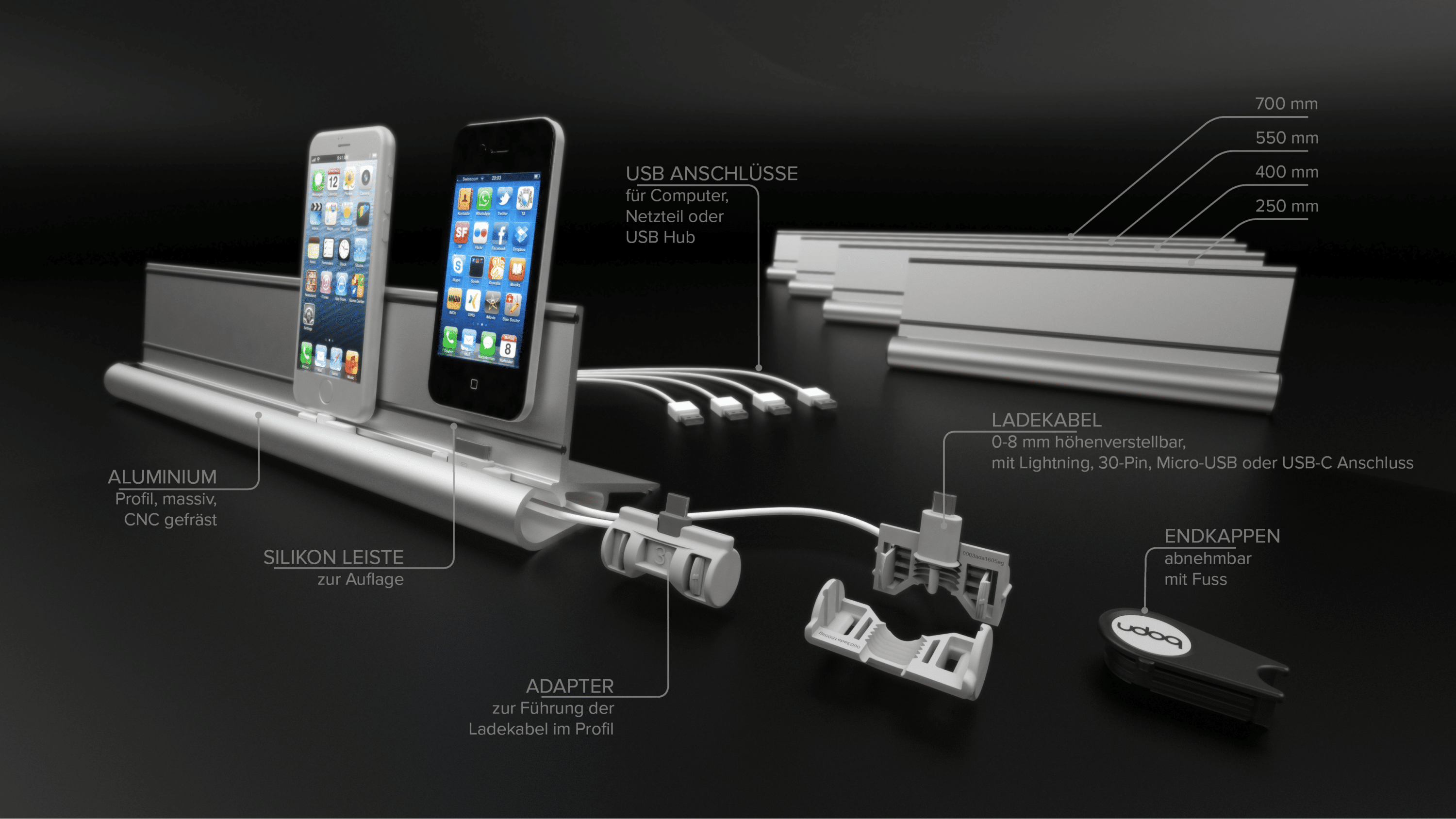 micro usb ladestation coromal caravan trailer wiring diagram udoq: dockingstation für alle smartphones und tablets
