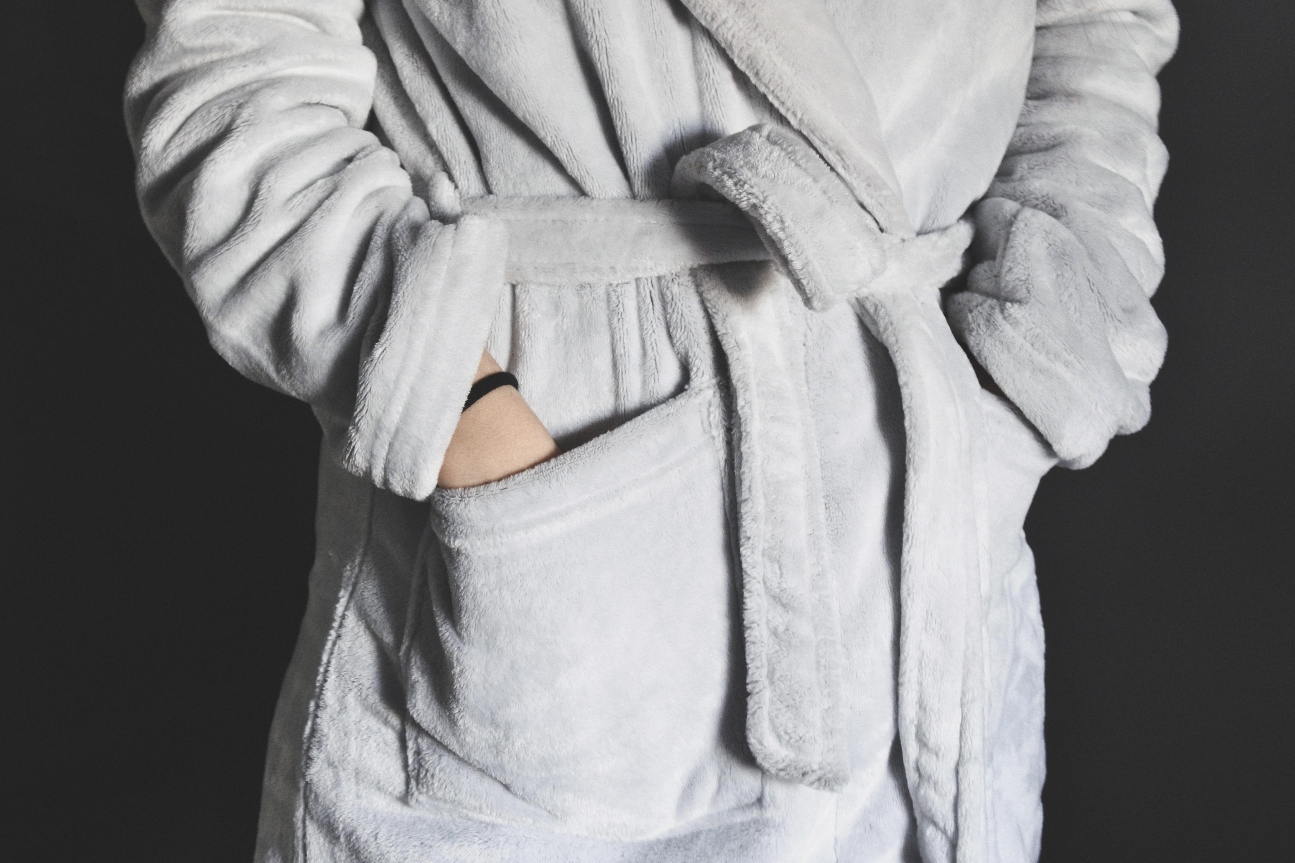 Wear a fuzzy robe after a bath