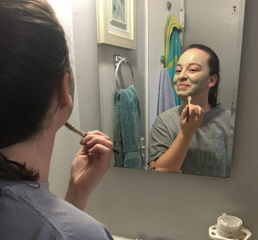 Applying Aztec Secret Indian Clay Mask