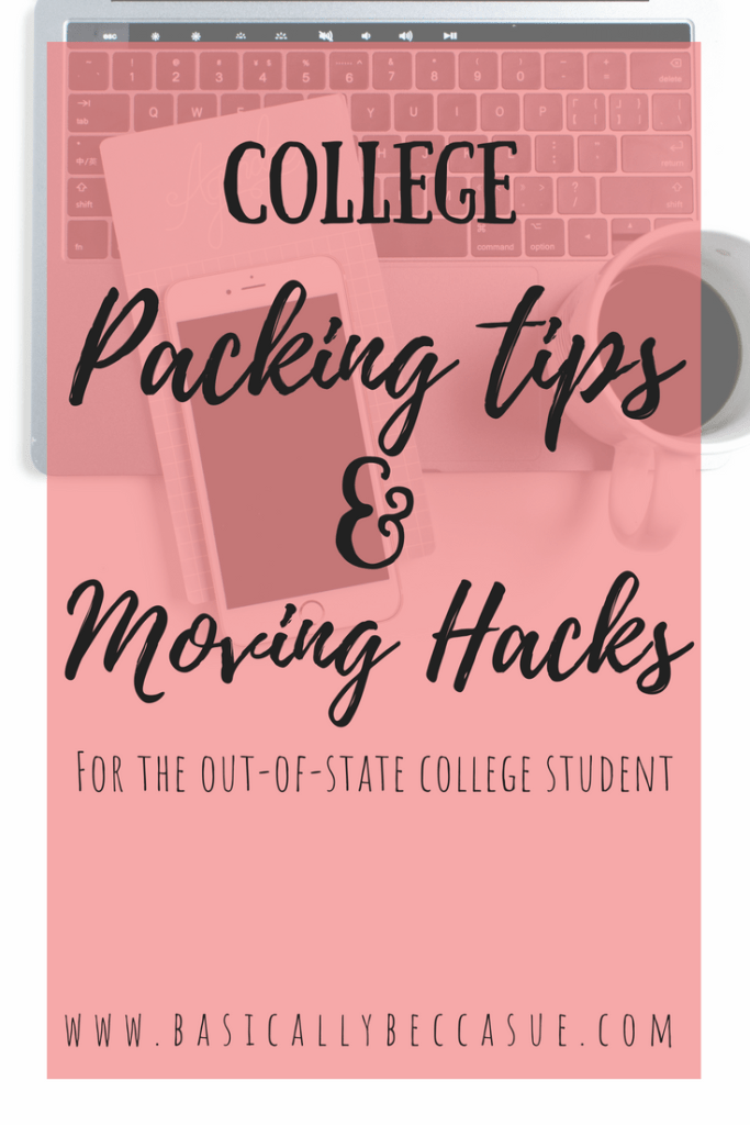 Check out these college packing tips and moving hacks for out of state college students who are moving long distance.