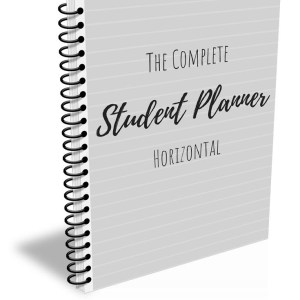 Horizontal student planner Cover