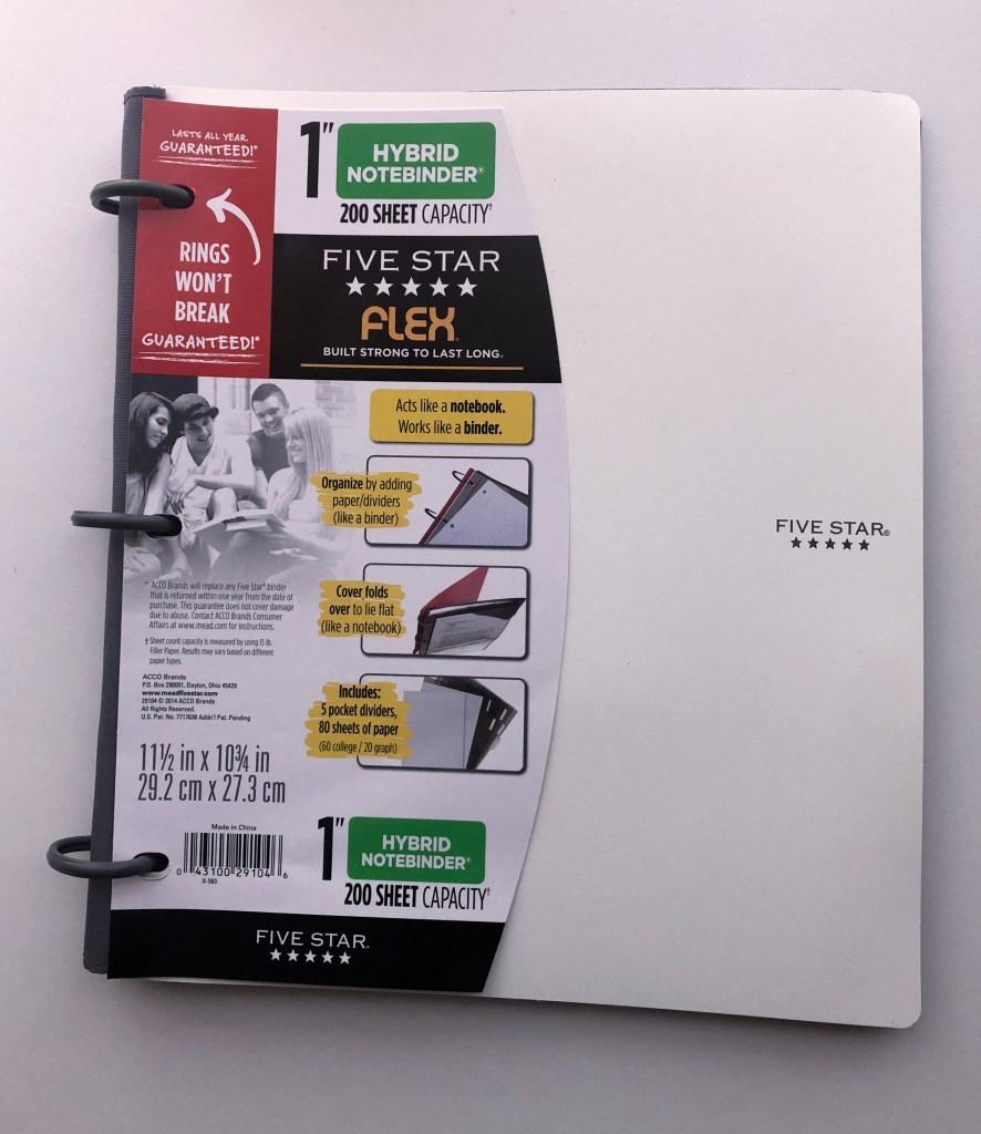 school supplies notebook