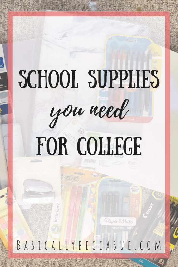 College school supplies vary by student. Here are my go-to college school supplies