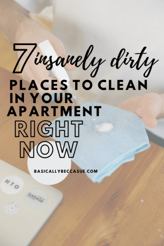 dirty places to clean