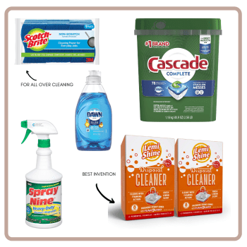 kitchen essential cleaning supplies
