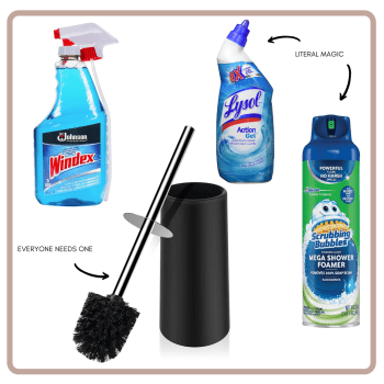 bathroom essential cleaning supplies