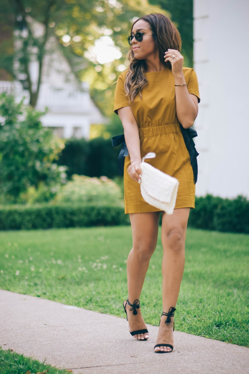 zara mustard dress fall
