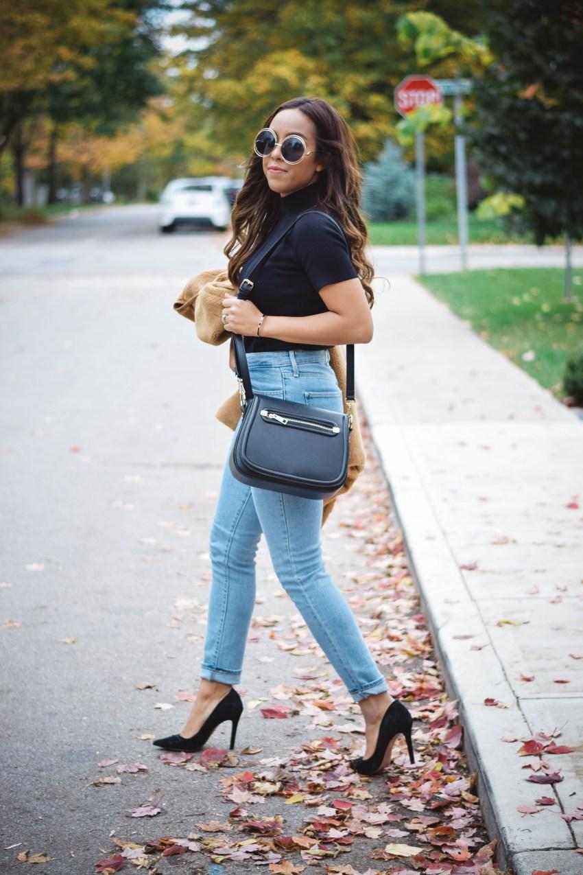 Fashion Blogger Lauren Sheriff of Basic Babe in Tularosa Jacket, Levi's 721 High Waisted Jeans