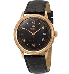Orient Bambino Gen 2 Version 2 - Black dial - gold Case - FAC00006B0