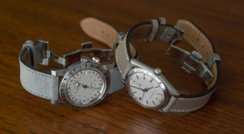 Hodinkee-and-holbens-watch-straps on Tudor and Gycine watches