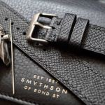 Jones in Tokyo Custom Black Epsom Leather Watch Strap on Omega Speedmaster
