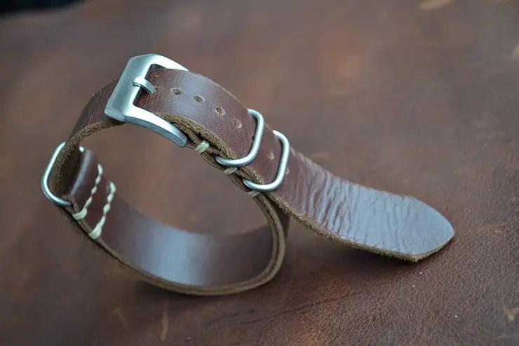 Neptune Straps Brown Leather NATO Watch Strap