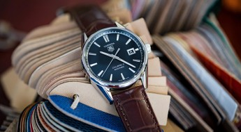 Tag Heuer Carrera Watch on Brown Hirsch Speed Alligator Strap