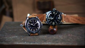 Oris SM300 on a B&R Bands brown leather watch strap