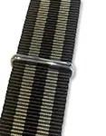 Blueshark Premium Nylon NATO Strap - Black and Gold