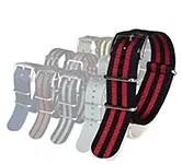 Blueshark Premium Nylon NATO Strap - Black and Red