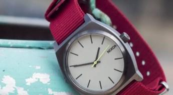 Crimson NATO Watch strap on Nixon by Barton Bands