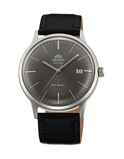 Orient Bambino Gen 2 Version 3 - Graphite grey dial with stainless steel case - Model number -FAC0000CA0