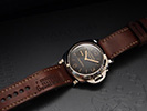 PAM422 on 1965 Swiss Ammo Watch strap with Vintage Ecru Linen stitching