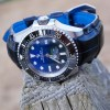 Rolex Sea Dweller Deep Sea D-Blue on Ebony Alligator watch strap with Padding at the lugs and our Fully Integrated Fit FIF upgrades