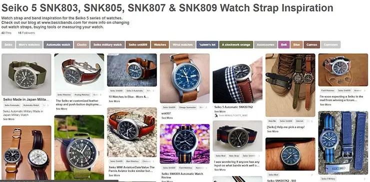 Seiko 5 Watch Strap Inspiration on Pinterest