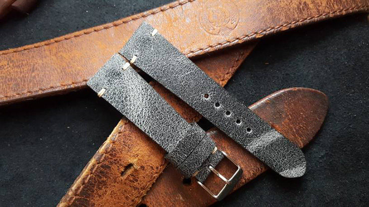 Two One Four Straps – Cracking Black Watch Strap