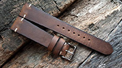 Two One Four Straps - Medium Brown Leather Watch strap