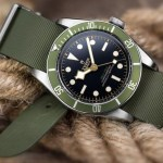 Benetto Cinturini ZULUDIVER Rubber Watch Strap by Watch Gecko on a Tudor