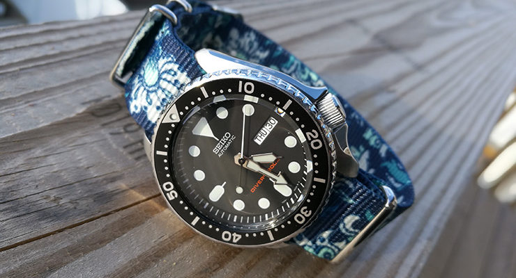 Blue graphic NATO on Seiko Diver
