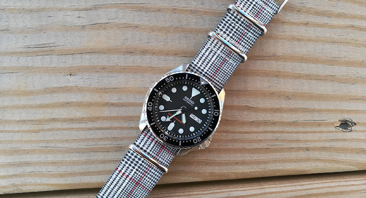 Plaid Graphic NATO on Seiko SKX007 Diver