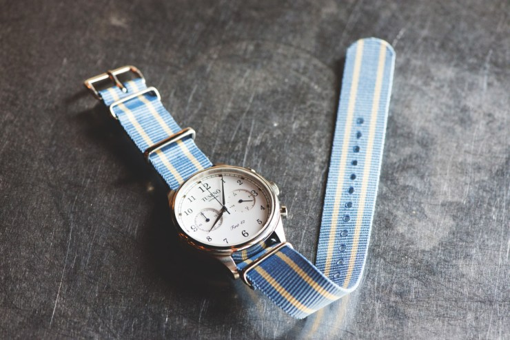 Clockwork Synergy Classic Nato Watch Strap Sky blue kahki
