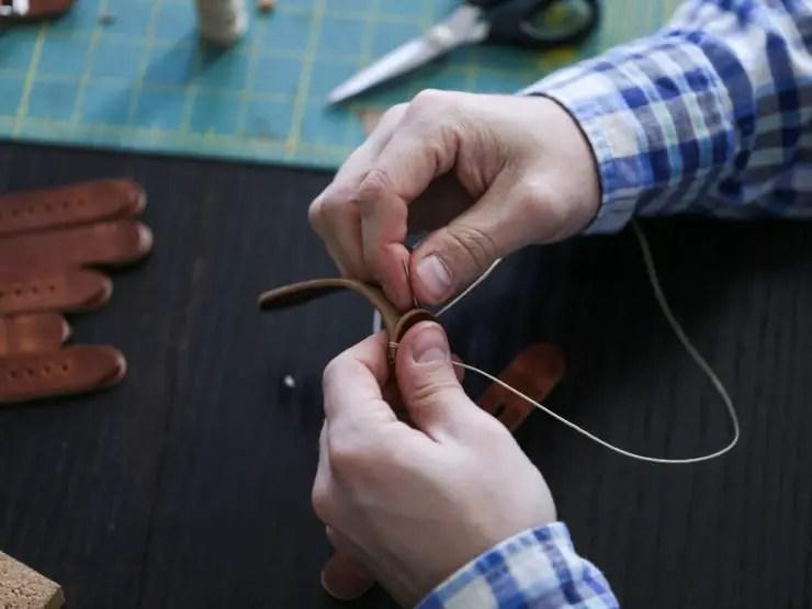 Choice Cuts Industries - handstitching watch straps