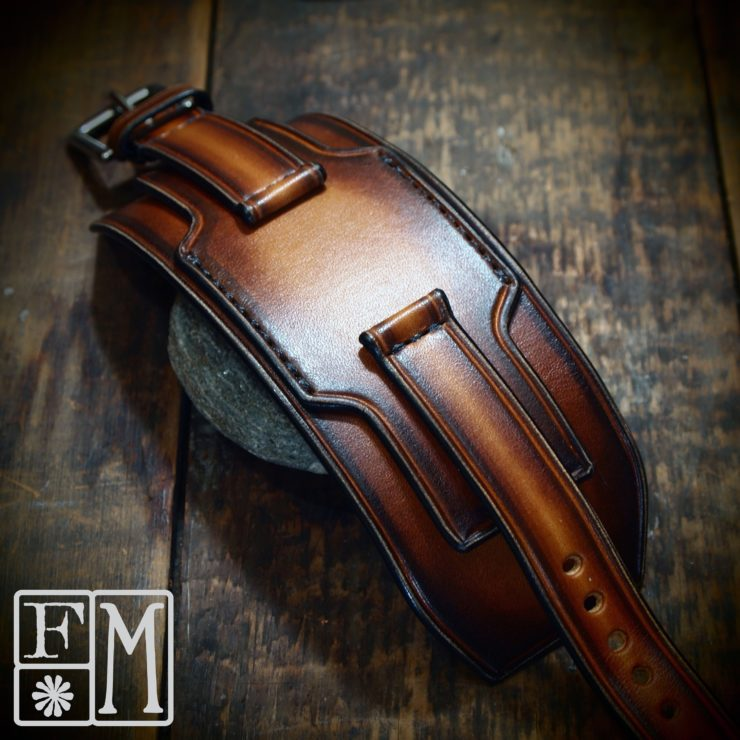 Brown Sunburst Style Custom Watch Strap by Freddie Matara