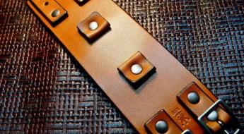 Custom Brown Leather Cuff Watch Strap by Freddie Matara