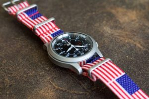 Clockwork Synergy USA NATO Strap on Seiko SNK 809