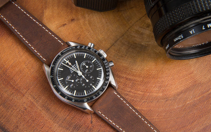 Crown & Buckle Black Label Season 3 Berit on an Omega Speedmaster Professional