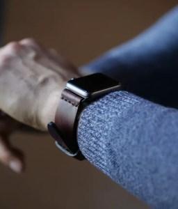 DaLuca Straps Custom Brown Chromexcel Watch Strap on an Apple Watch
