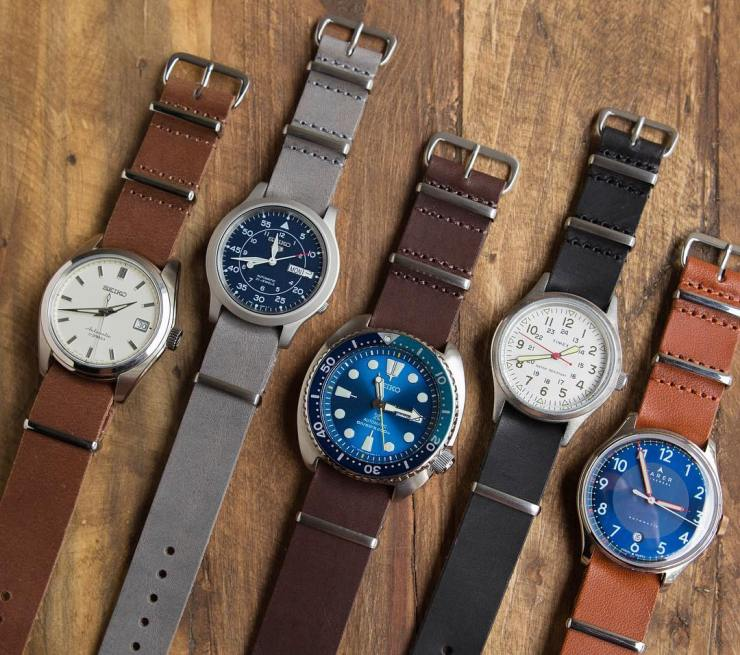 Crown & Buckle Straps on some inexpensive watches