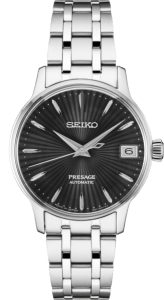 Seiko Presage Cocktail Time - Espresso Martini - Silver Case - Black Dial - Ladies Version -SRP837