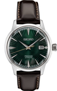 Seiko Presage Cocktail Time -Mockingbird Green Dial on Leather - SRPD37