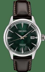 Seiko Presage Cocktail Time -Mockingbird Green Dial on Leather - SRPD37