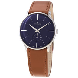 Junghans Meister Blue Dial Brown Band