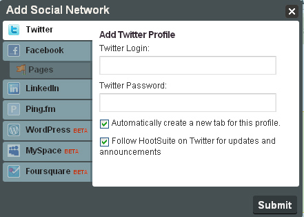 Social Integration with HootSuite