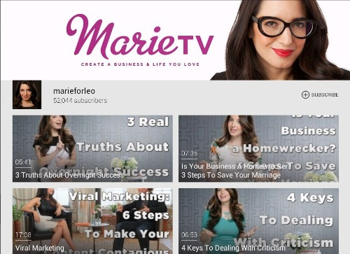 marietv One channel design