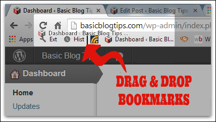 Drag and Drop BookMarks on the Chrome Toolbar