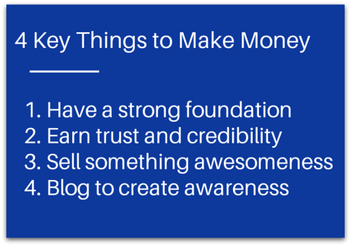 4 Key Things to Make Money from Your Blog from @Basicblogtips