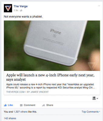 Facebook Content from the Verge