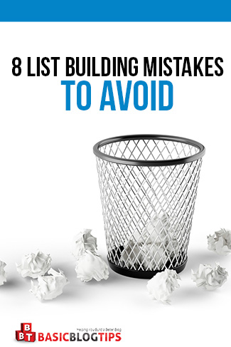 How To Avoid 8 List Building Mistakes